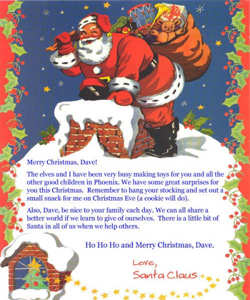 A  Months Old Letter To Santa